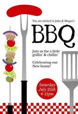 Grillin And Chillin - Party Invitation