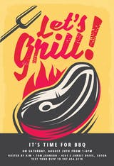 Let's grill - BBQ Party Invitation