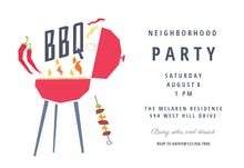Neighborhood Party - Invitación Para Barbacoa