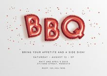 Smokin' Balloons - BBQ Party Invitation