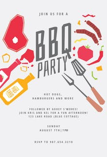 Summer night - BBQ Party Invitation