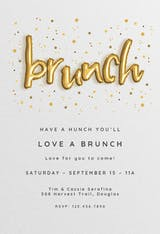 Balloons & Bacon - Brunch & Lunch Invitation