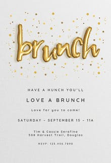 balloons bacon brunch lunch invitation
