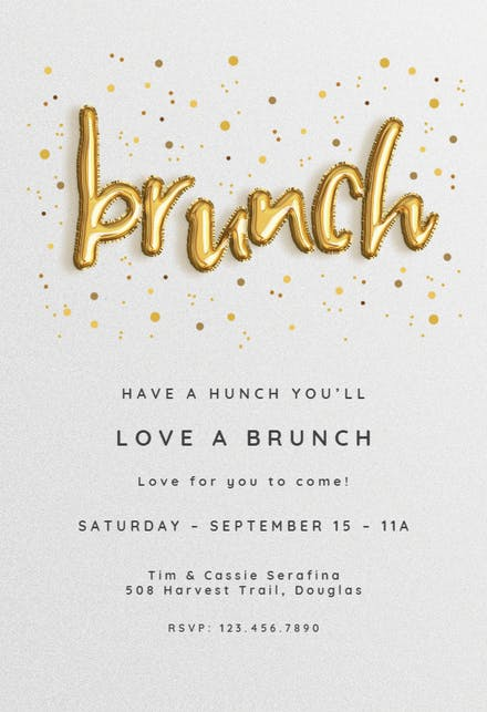 Brunch & Lunch Party Invitation Templates (Free) | Greetings