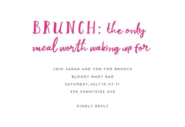 Best Meal Of The Day - Brunch & Lunch Invitation