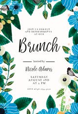 Blue & Orange - Brunch & Lunch Invitation