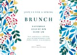 Blue & Red - Brunch & Lunch Invitation