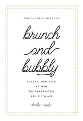 Brunch Bubbly - Brunch & Lunch Invitation