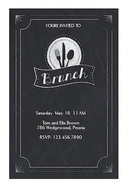 Chalkboard Brunch - Brunch & Lunch Invitation