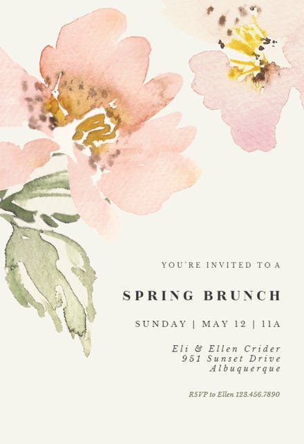 Brunch Lunch Party Invitation Templates Free Greetings