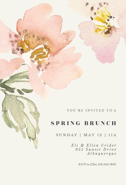 Garden roses - Brunch & Lunch Invitation