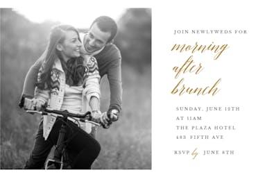 Morning After Brunch - Brunch & Lunch Invitation