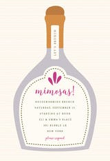 Poppin Bottles - Brunch & Lunch Invitation