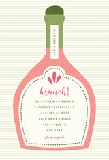 Poppin Bottles - Brunch & Lunch Invitation