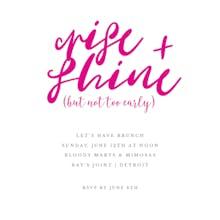 Rise  Shine - Brunch & Lunch Invitation