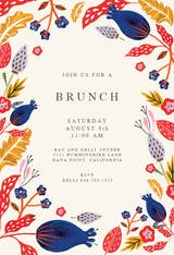 Rustic floral - Brunch & Lunch Invitation