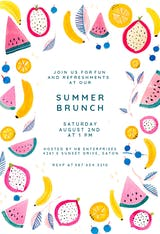 Summer Brunch - Invitación Para Brunch