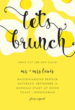 Sunny Side Up - Brunch & Lunch Invitation