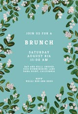 White Bloom - Brunch & Lunch Invitation