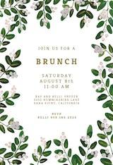 White Bloom - Brunch & Lunch Invitation