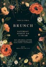 Wild Flowers - Invitación Para Brunch