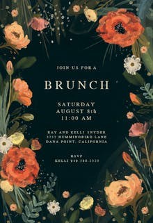 Wild Flowers - Brunch & Lunch Invitation