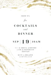 Golden waves - Cocktail Party Invitation