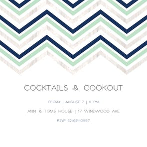 Ric Rac Rows - Cocktail Party Invitation
