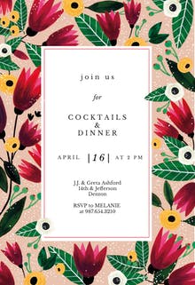 Spring Hug - Party Invitation