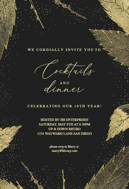 Cocktail Party Invitation Templates (Free) | Greetings Island