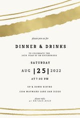 Sprayed lines - Cocktail Party Invitation