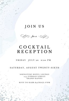 Watercolor Waves - Business Event Invitation