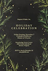 Winter greenery - Cocktail Party Invitation