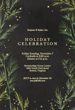 Winter greenery - invitation