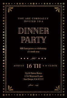 Dinner party invitation templates free greetings island fancy night dinner party invitation stopboris Gallery
