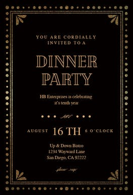 Fancy night - Dinner Party Invitation