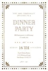 Casino night - Dinner Party Invitation