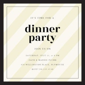 Clean and Classic - Party Invitation