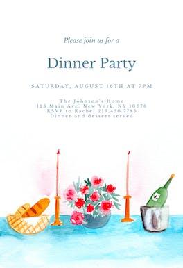 Dinner table - Dinner Party Invitation