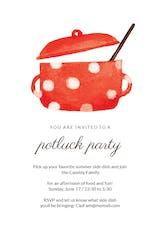 Dotted pot - Potluck Invitation