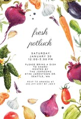Fresh vegetables - Potluck Invitation