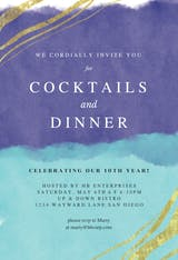 Happy color strokes - Dinner Party Invitation