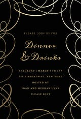 Intricate Swirls - Dinner Party Invitation