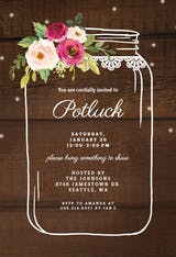 Jar - Potluck Invitation