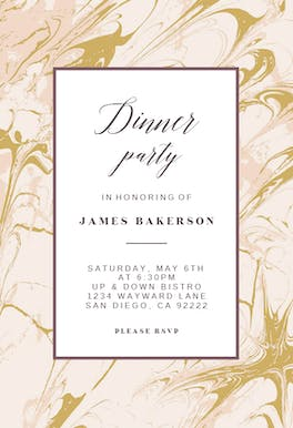 Marble - Dinner Party Invitation