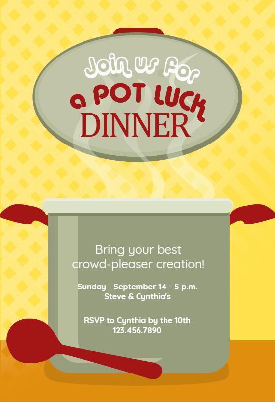 Graduation Theme Ideas: Potluck Invitation Template (Free)