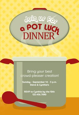 Potluck Dinner Invitation