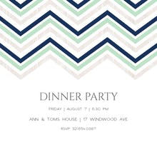 Zigs and Zags - Dinner Party Invitation