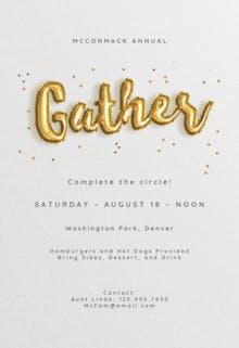 Balloons R Us - Invitación Para Reunión Familiar