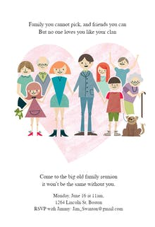 Big Old Family - Family Reunion Invitation
